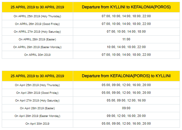 Easter Ferry Schedule Changes - The Kefalonia Pulse