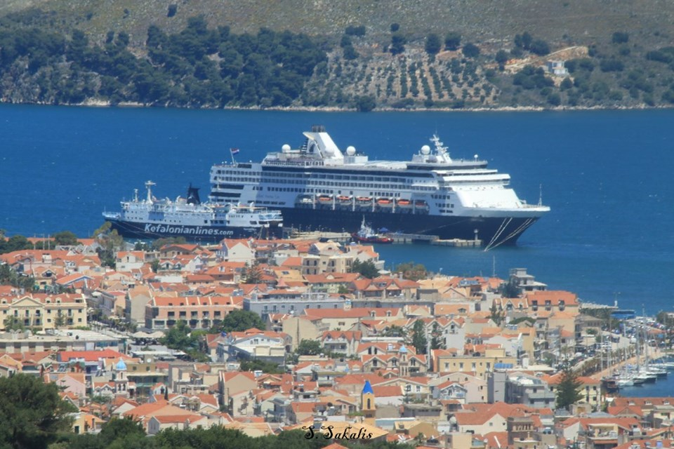 Nearly 200 Cruise Ships Arriving At Argostoli Kefalonia In