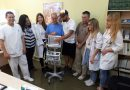 George Potamianos delivered a monitor to the paediatric clinic of general hospital of Argostoli