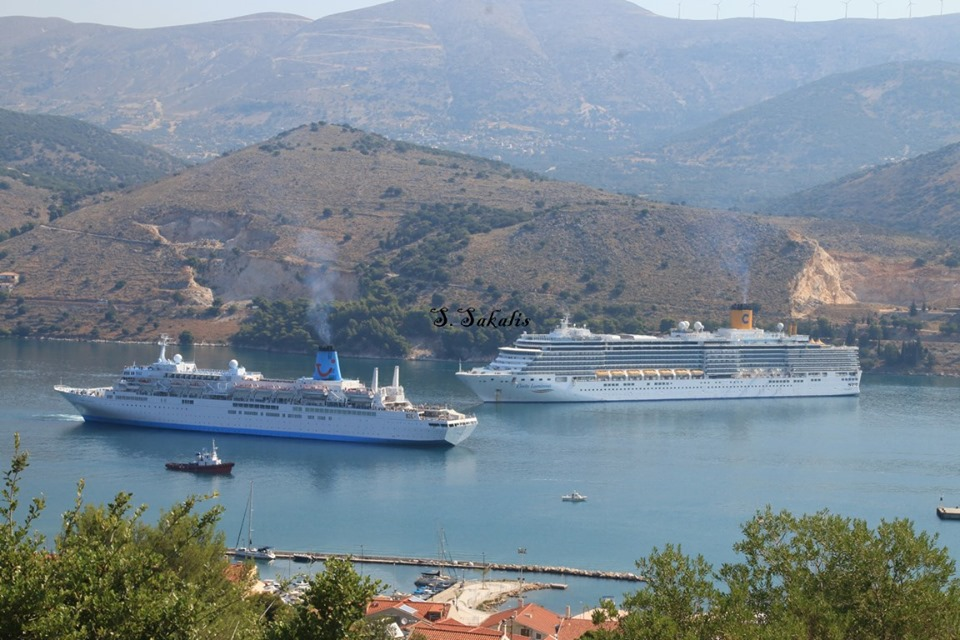 Argostoli Has Two Cruise Boats In Today The Kefalonia Pulse