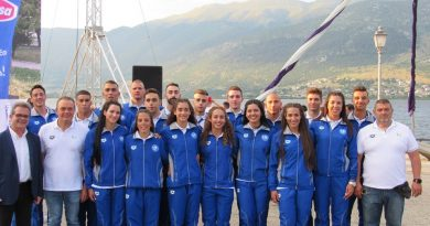 National Technical Swimming Team of Greece based in Kefalonia in preparation for Mediterranean Coastal Games event in Patras commencing next weekend