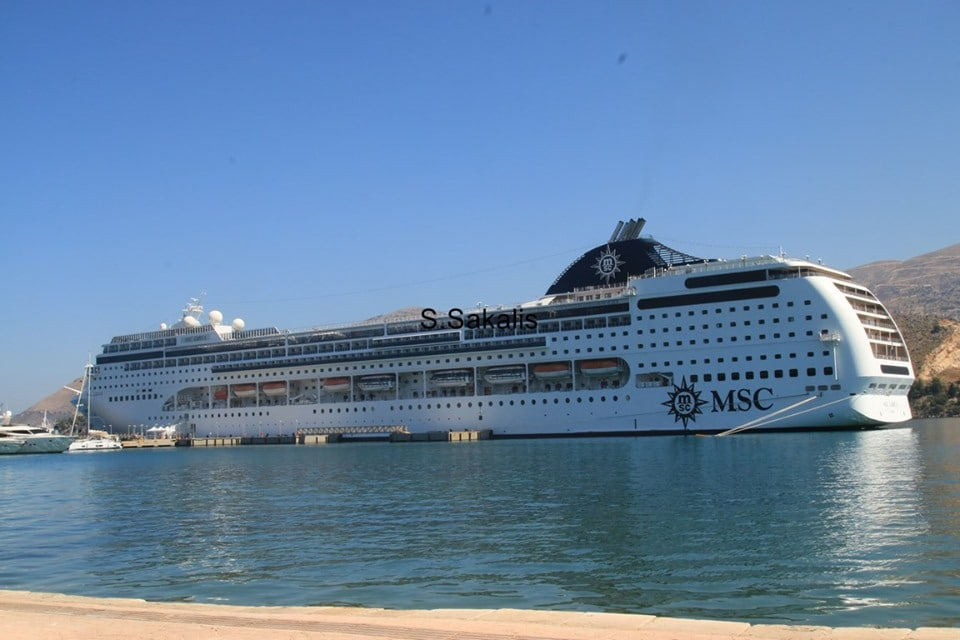 Two More Cruise Boats Moored Off Argostoli Today The