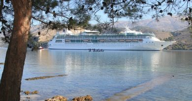 Another lovely day and yet another cruise boat in Argostoli