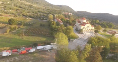 Flying Over Agios Gerasimos Monastery Just before the big celebration (video)