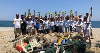 15 beaches cleaned in Kefalonia and Zakynthos and 40 overall