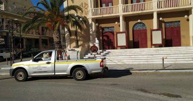 2nd round of disinfection in Municipal Buildings and Public Areas of our Municipality