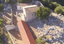 Flying high over the Atros Monastery near Poros  (video)