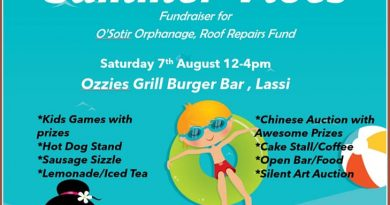 Saturday 7 August Lassi from12:00 – Fundraiser this weekend for the Argostoli Orphanage
