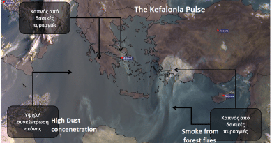 Low air quality due to fires throughout Greece – Photo by satellite